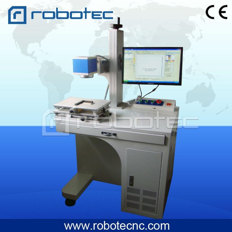 Animal ear tag/button 20w fiber laser marking/printing machine