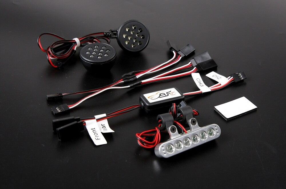 Kit de feu de stop LED et support en aluminium 1/5 Baja 5B SS 2.0 King Motor et Rovan Baja Buggies comprennent un support de feu arrière