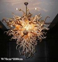 Envío Gratis lámpara de Arte de cristal único de alto techo