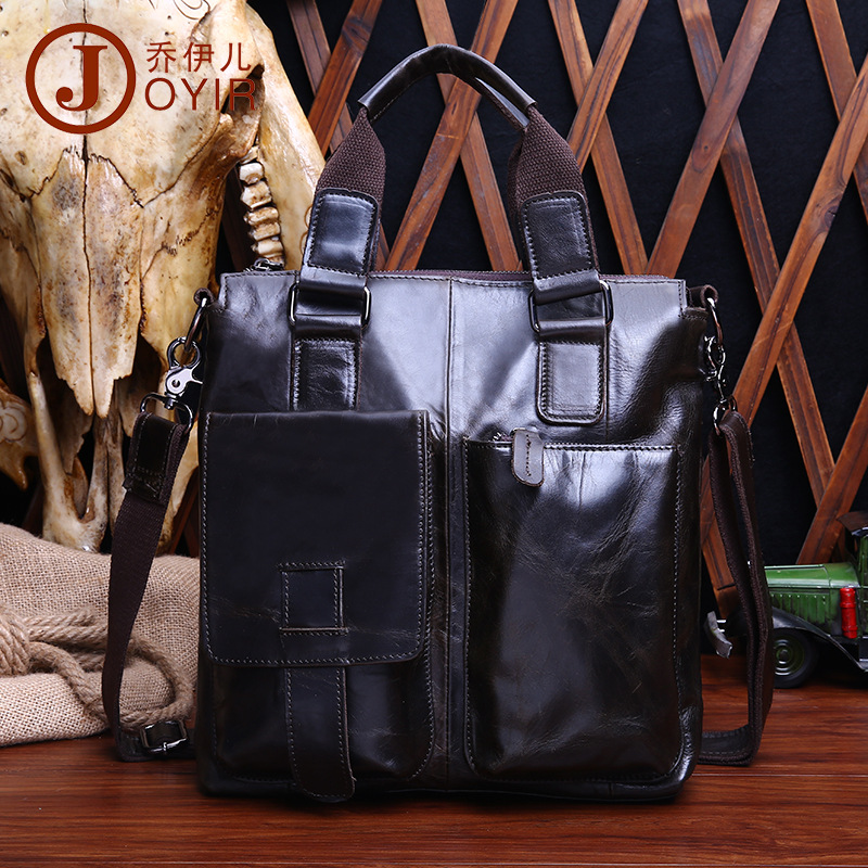 042018 new hot high quality man handbag men large tote male leather business bag