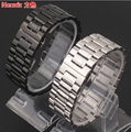 High quality Stainless Steel Silver Black Watch strap 24 26 28 30mm  Solid Links Watch Band Free Shipping