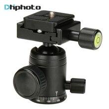 울란지 알루미늄 카메라 삼각대 헤드 볼 헤드, DSLR 카메라 삼각대 용 마이크로 1 포켓 슬라이더 용 퀵 릴리스 플레이트 포함