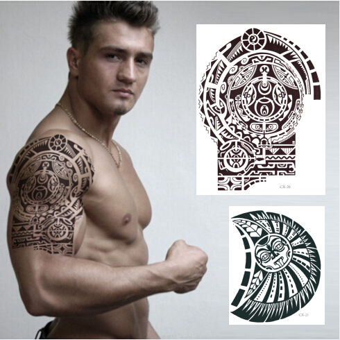 dwayne johnson tatouage d'épaule + poitrine temporaire tatouage