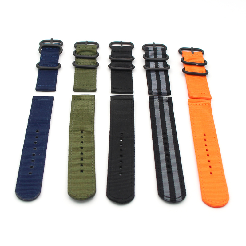 Nylon Watch Band Luxury Nylon Strap 3 Ring Watch Replacement Band For Garmin Fenix 3 Black/Green 2017 Hot Sale Fashion  Solid фара fenix bc21r