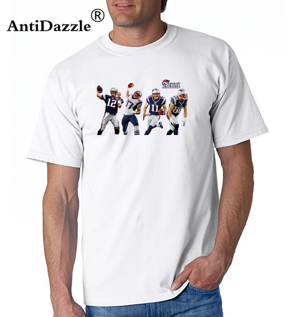 6d5610188 Antidazzle GRONK New England Rob Gronkowski 87 Tom Brady Men T-shirt  Clothes T Shirt Men's tshirt for Patriots fans gift tee