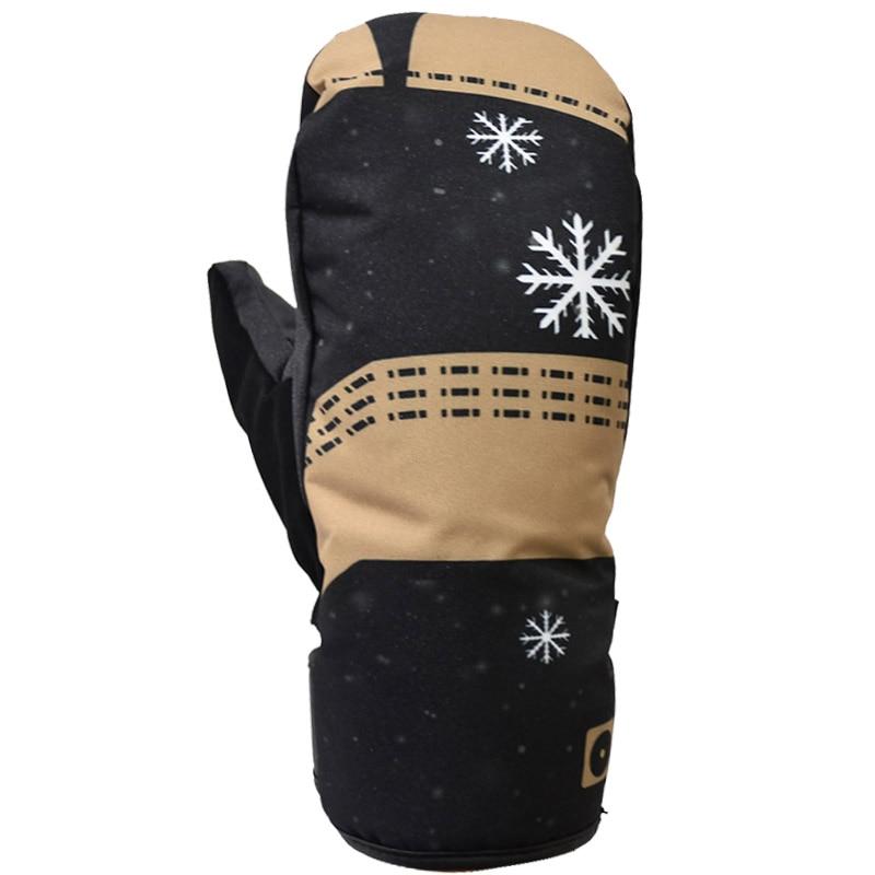 Ski Gloves Winter Outdoor Sports Waterproof Windproof Gloves Snowboard Long Cuffed Leather перчатки для сноуборда  Warm Gloves