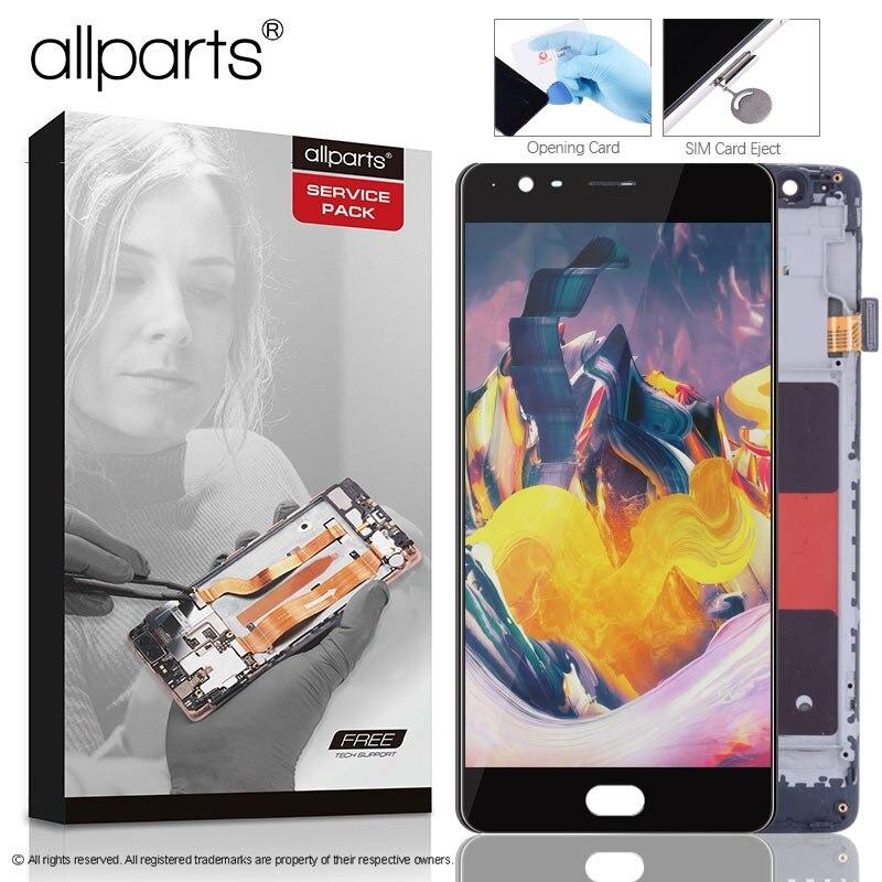 AMOLED 5.5 ''Original Pour Oneplus 3 t LCD Affichage à L'écran Tactile avec Cadre LCD pour OnePlus 3 t Affichage remplacement A3010 A3000