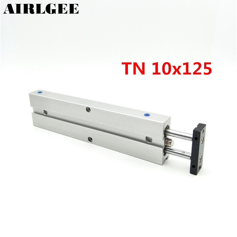 Dual Shaft TN10 x 125 Magnet Attach Double Rod Air Pneumatic Cylinder Free Shipping cxsm10 50 double rod guided pneumatic air cylinder free shipping