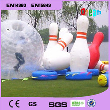 Free Shipping!Inflatable bowling bottle use for zorb ball( human hamster ball), 1.8M hight
