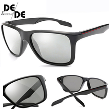 Hot Sale Men Photochromic Sunglasses New HD Polarized Women UV400 Rimless Anti-glare Sun Glasses