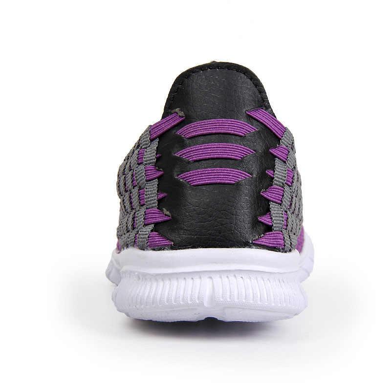 Kadın Dokuma Ayakkabı 2016 Yaz Marka El Yapımı rahat ayakkabılar En Kaliteli Moda Rahat Kadın Ayakkabı