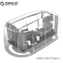 ORICO 6139C3 2.5/3.5 inch Type-C Transparent Hard drive Enclosure USB3.1 Gen1 Hard Drive Dock 8TB Drives for Mac/Windows/Linux