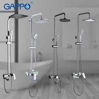 GAPPO Shower System bathroom shower faucet tap bath mixer bathtub faucet set waterfall shower set chrome rain shower head