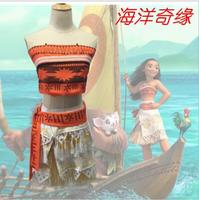 2017 Kids Girls Women Movie Moana Princess Dress Cosplay Costume Princess Vaiana Birthday Party Costume Skirt