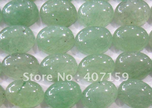 6x8 мм Овальный зеленый авантюрин Кабины ювелирные изделия из кабошонов Подвески бусины для Подвеска из колец браслет серьги