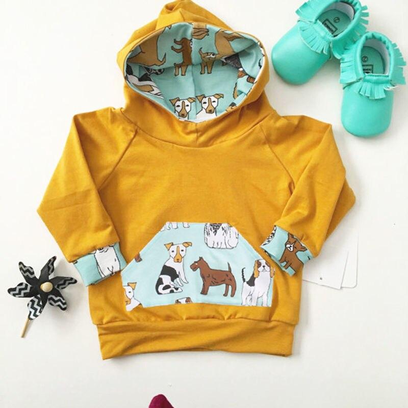 Odzież dziecięca dla dzieci Nowa bluza z kapturem Solidne bluzy z - Odzież dla niemowląt - Zdjęcie 2