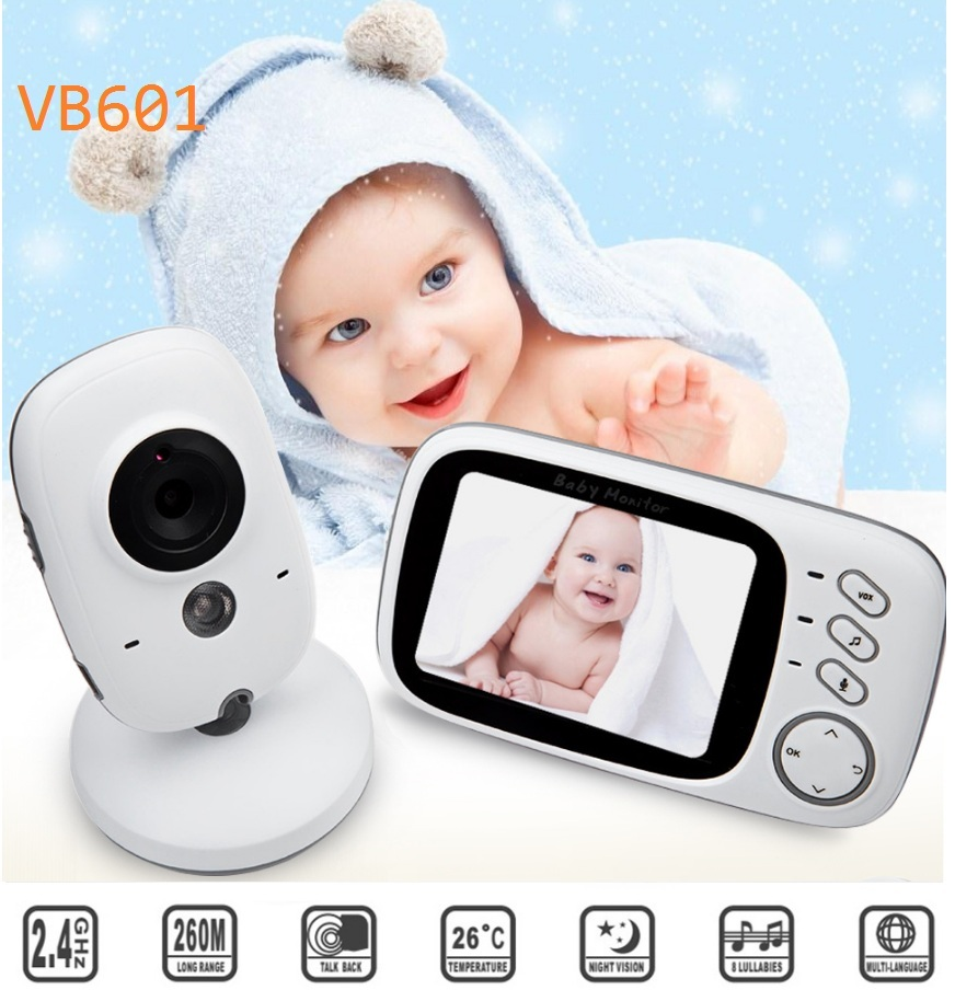 Fimei VB603 3.2 Inch Wireless Video Color Night Vision Baby Monitor Camera Baby Sleep Security Video Camera Monitor LCD Screen цены