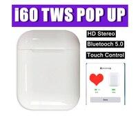 I60 наушники-вкладыши TWS с Беспроводной спортивные bluetooth-наушники гарнитура для apple xiaomi смартфонов PK i10/i12/i13/i15/i20/i21/i30/i50 наушники-вкладыши TWS