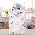 Novo envelope de algodão cobertor do bebê recém-nascido do bebê swaddle infantil cobertor da cama 90*90 cm