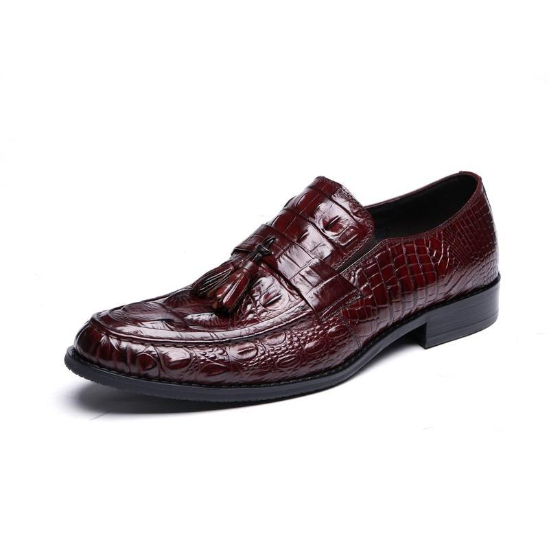 Micholediys New arrival handmade Men's shoes genuine business dress crocodile leather shoes bfdadi 2018 new arrival hat genuine