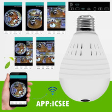 panoramic bulb vr 360 degree fisheye wholesale HD 960P Wireless IP Camera Wifi Home Security Surveillance network sd memory card