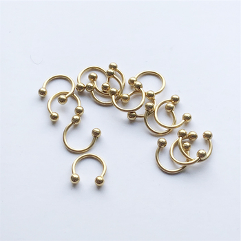 UVW037 Trendy Surgical Steel C Shape Segment Tragus Fake Septum Nose Rings Stud Helix Piercing Body Jewelry 5