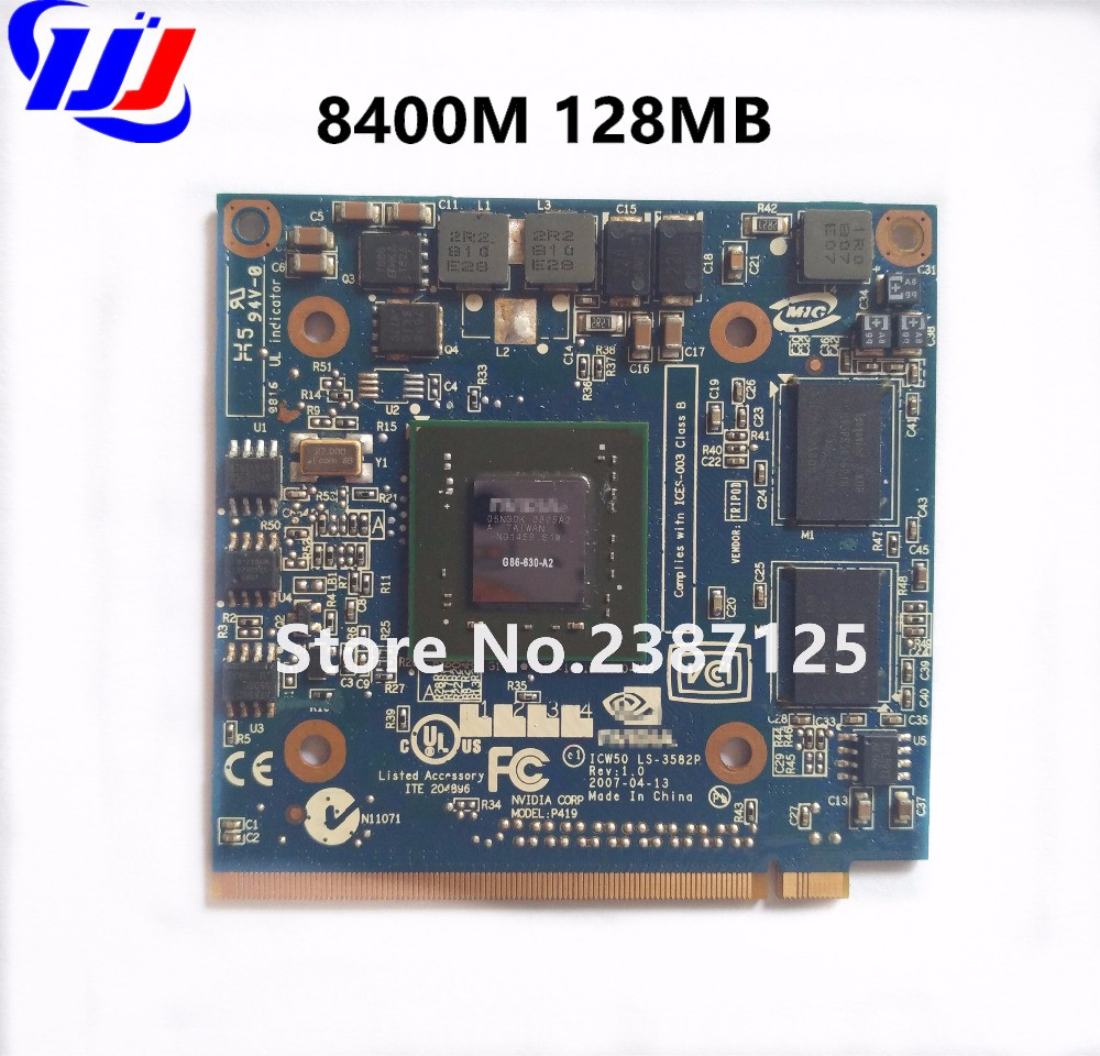 Купить с кэшбэком For n V i d i a GeForce  8400M GS MXM IDDR2 128MB Graphics Video Card for A c e r   A spire 5920G 5520G 4520G 7520G 7520 7720G