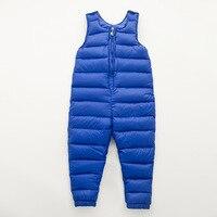 Gorąca sprzedaż dzieci zimowe kombinezony solidna Casual chłopiec dziewczyny capris dziecko dół spodnie zagęścić spodnie darmowa wysyłka 6 kolorów