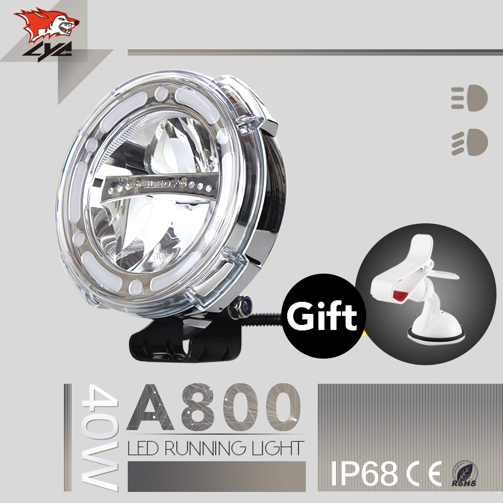 LYC 7 Round Lamp Aftermarket Lights for Trucks Running Lamp For Jeep Wrangler Lights Replacement Headlights Auto 6000K 40W high quality lyc for jeep wrangler yj fog lights daylight running overhead fog lights for toyota nissan lights 30w 3000k 6000k