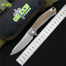 Green thorn CARDS Limited edition Flipper folding knife M390 blade Titanium handle outdoor camping hunt pocket Knives EDC tools