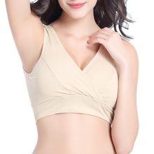 bce111aaffcec Hot Selling Breast Feeding Maternity Clothes Bras Sleep Nurse Bra Women  Pregnant Feeding Underwear M-