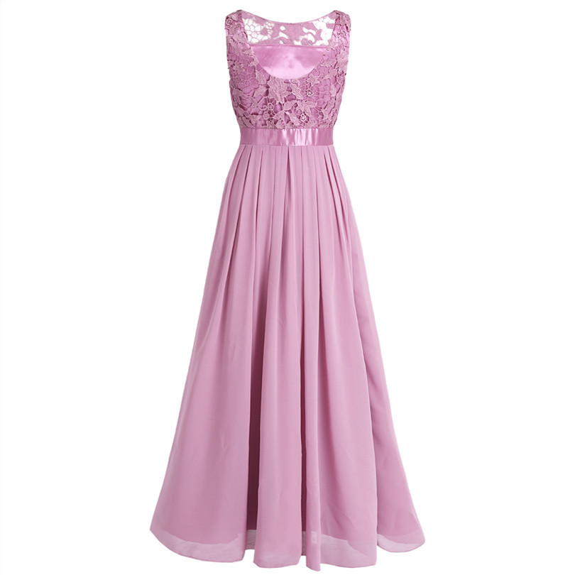 bdfa8477c TiaoBug Lace Bridesmaid Dresses Long 2017 New Designer Chiffon Beach Garden  Wedding Party Formal Junior Women Ladies Tulle Dress-in Bridesmaid Dresses  from ...