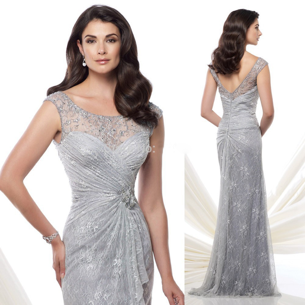 Images of Silver Mother Of Bride Dress - Kcraft