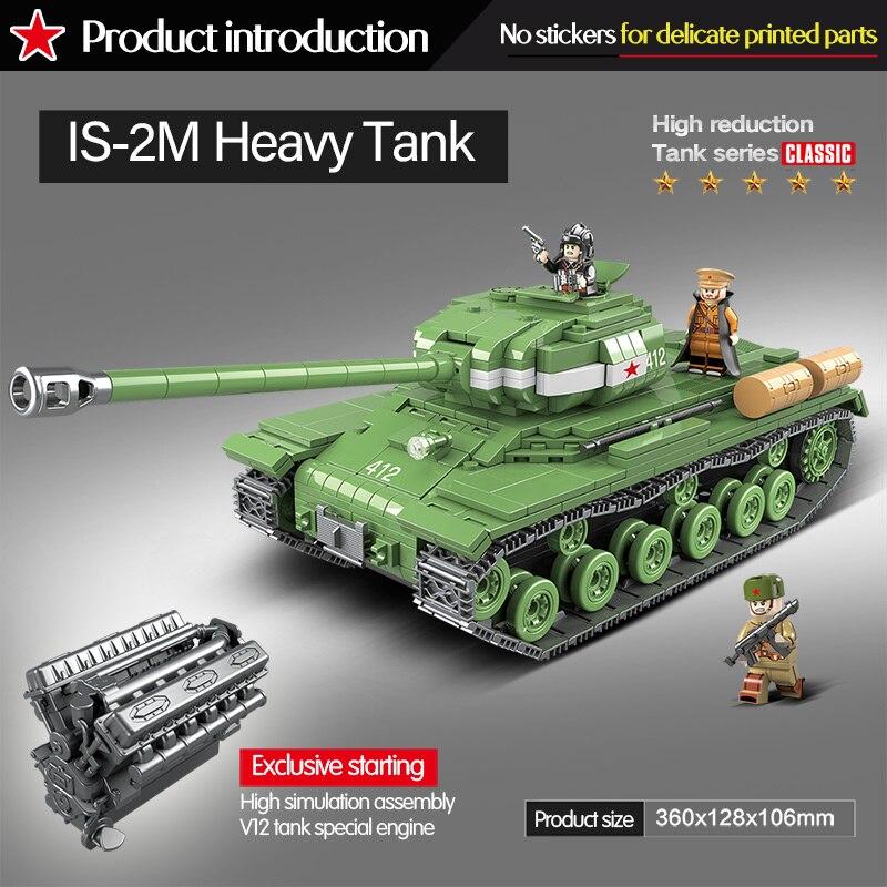 HOT SALE] 1068 PCS WW2 Military Soviet Russia IS 2M Heavy