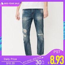 Jack & Jones Brand men jeans fasion holes cotton and linen s