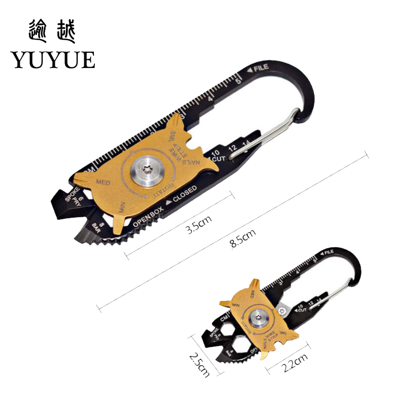 2018 Hot EDC Pocket Multi Tools For Outdoor Camping Equipment Tourism Survival Knife Tool Outdoor Survival Screwdriver Cutter  4