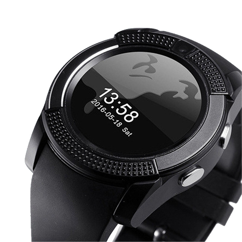V8 SmartWatch V8 Bluetooth Wristband Smart Watch With Touch Screen HD  Camera SIM Card Passmoter For Apple Android Men Women