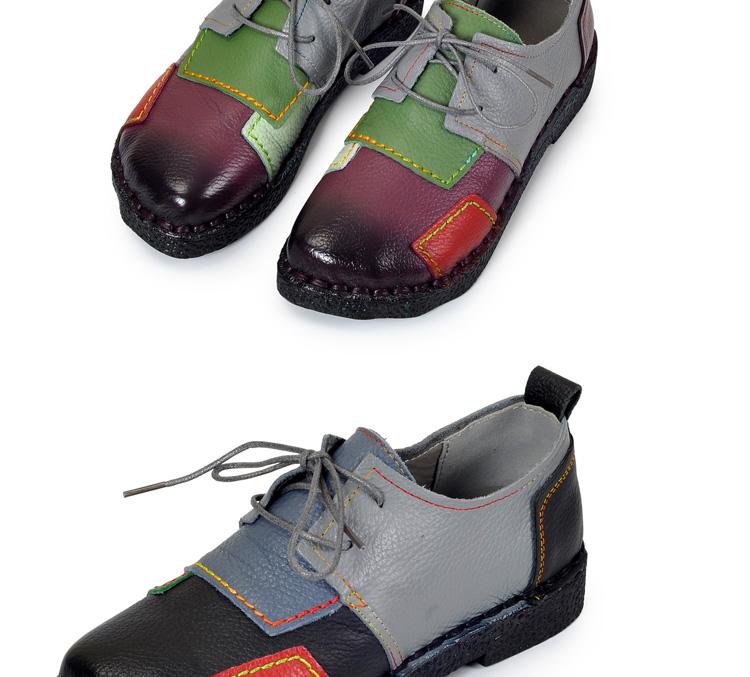 HTB1523RRpXXXXXbXVXXq6xXFXXXP - Women's Handmade Genuine Leather Flat Lace Shoes-Women's Handmade Genuine Leather Flat Lace Shoes