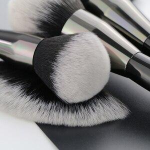 Image 5 - Набор профессиональных натуральных кистей для макияжа BEILI Black, 25 шт., тени для век, подводка для бровей, консилер, кисти для макияжа
