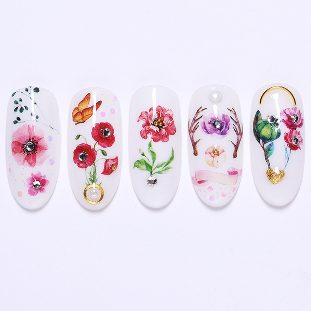 24 Pcs/Set Water Decals Colorful