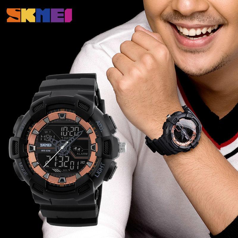 SKMEI Men Outdoor Sports Zegarki Chronograph Fashion Wielofunkcyjny - Męskie zegarki - Zdjęcie 3