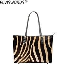 ELVISWORDS New Style Shoulder Bag For Women Beautiful Animal Skin Printing Handbags Ladies Fashion Casual Leisure Bolsos Mujer