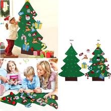 Christmas Tree with Ornaments Xmas Gift For Kids to Decor Felt Christmas Tree DIY Door Wall Hanging Decor