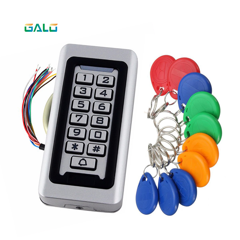 Waterproof Outdoors Use Metal Stainless Steel Reader 2000Users WG Input And Output Security RF Access Control Keypad Optional