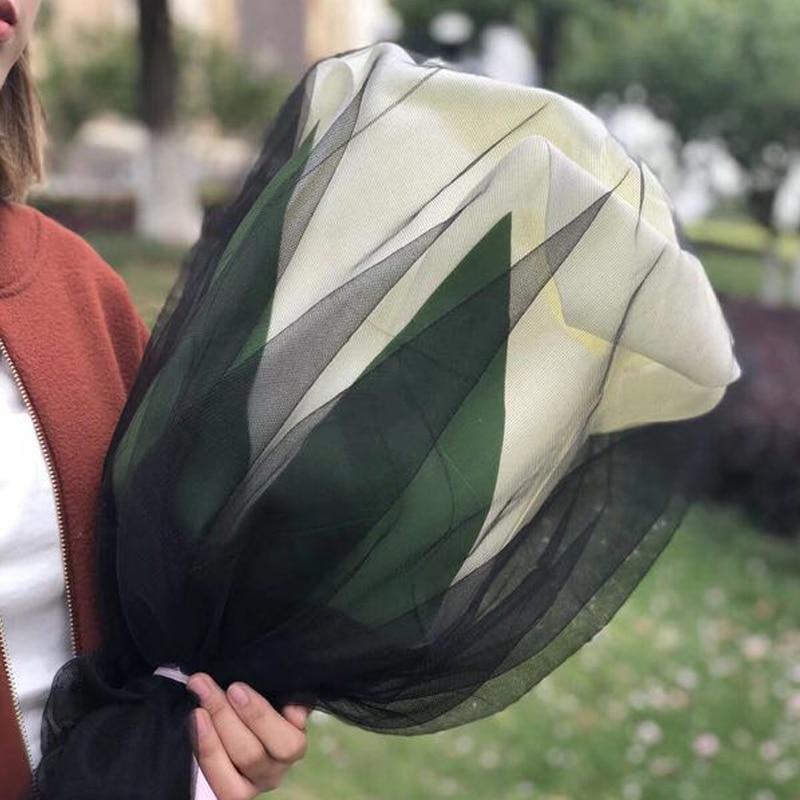 2018 nouveau super grand rose fleurs artificielles anniversaire saint valentin décorations de mariage envoyer petite amie mousse fleurs bouquet