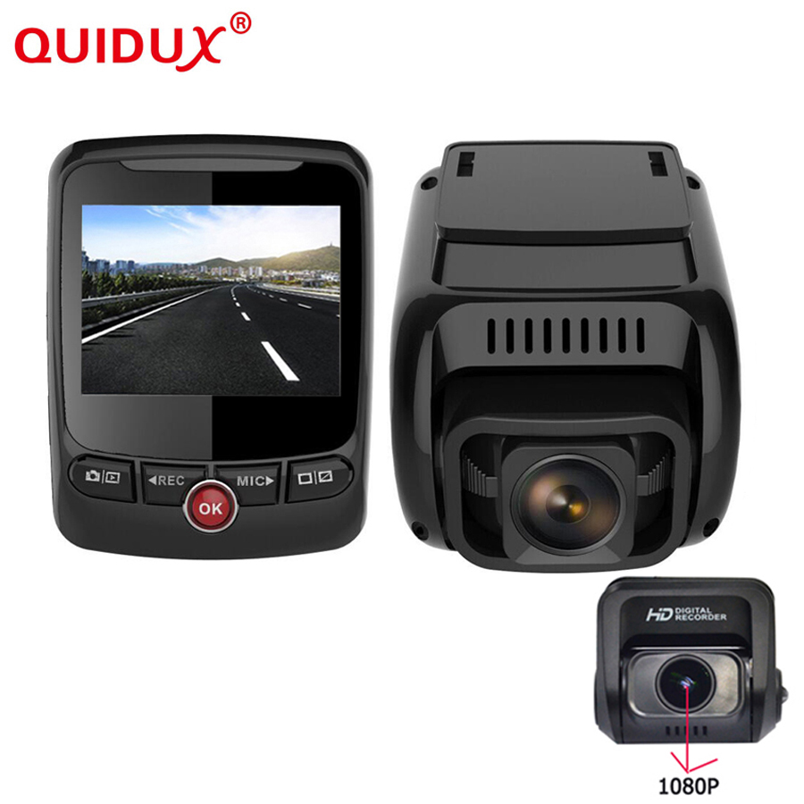 QUIDUX 2018 New WiFi Car DVRs Recorder 2.4 Dual Lens Vehicle Rear Camera GPS Camcorder 4K 2160P FHD 1080P Night Vision Dashcam