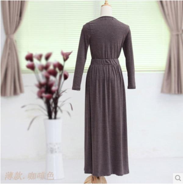 2014 outono e inverno mulheres de Slim temperamento vestido de mangas compridas era magro super – grandes quintais
