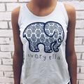 Marfil Ella Verano Mujer Top Elefante Imprimir T Shirt Sexy Divertido Delgado Top Tee Tops