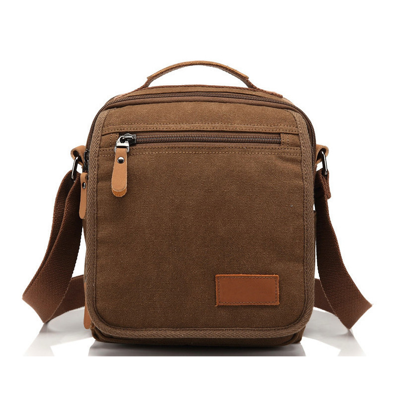 ФОТО Hot! Men Canvas Bag Vintage Messenger  Bag Brand Business Handbags Male Bolsa Casual Travel Shoulder Bag Men Crossbody Bag