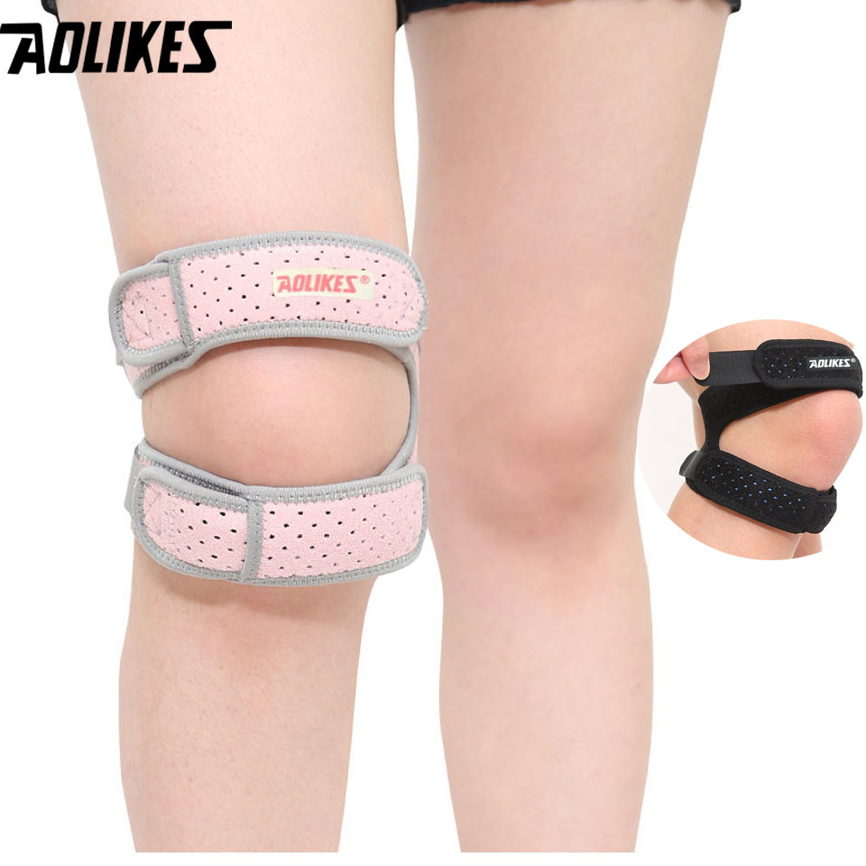 77418ed6aa AOLIKES 1 PCS Adjustable Sports Kneepad Double Knee Patella Tendon Support  Strap